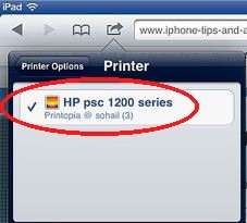 how to add printer to ipad