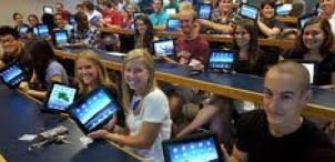 The iPad is used heavily in schools for education.