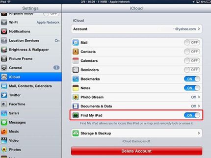 how to enable find my iphone find my iphone application for 18777